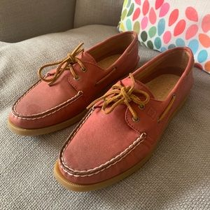 Sperry Topsiders in Brick Red, Size 10. Like New!